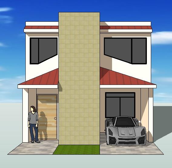 Fachadas Y Casas Casas Con Frentes De Seis Metros