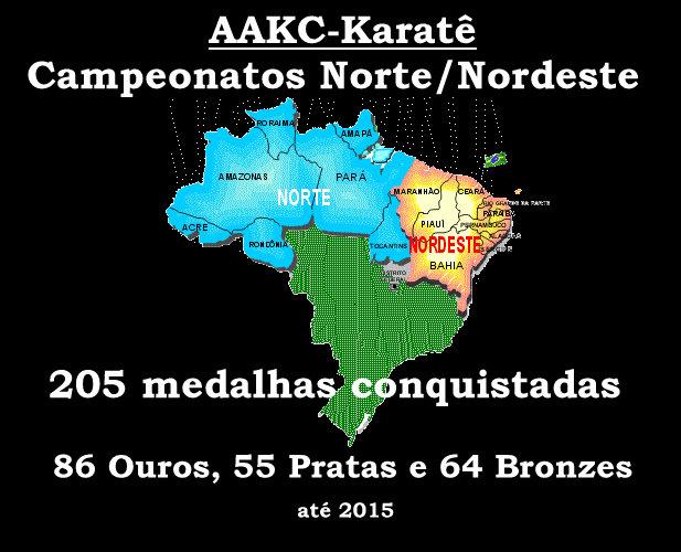 Conquistas em Estados do Norte/Nordeste do Brasil: