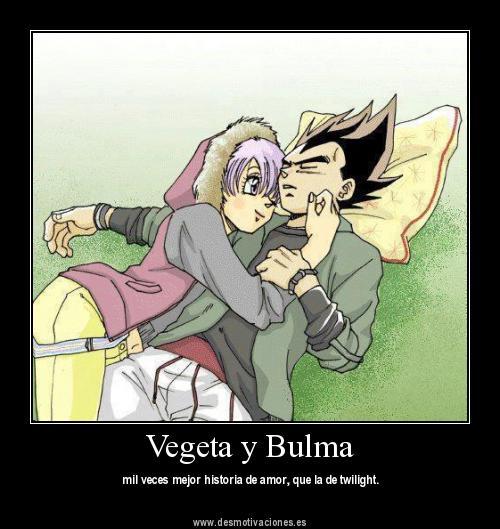 la relacion de vegeta y bulma:
