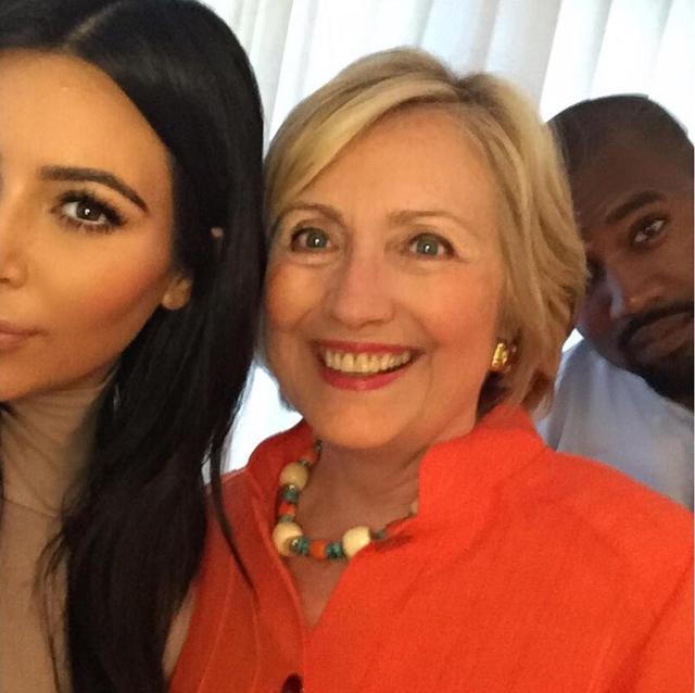 Kim Kardashian y pareja con Hillary Clinton