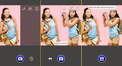 Tutorial trik cara menggunakan aplikasi Split Camera untuk membuat foto kembar