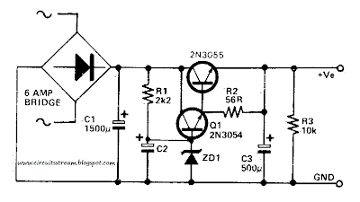Low Ripple Power Supply Circuit Diagram