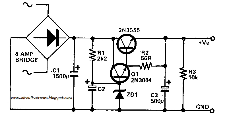 Build A Low Ripple Power Supply Wiring Diagram Schematic