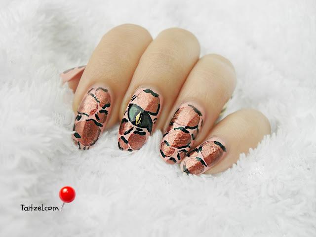 blobbicure, flormar duo chrome, lizard nails