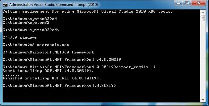 Microsoft .NET Framework 4 Client Profile 4.0.30319.1 Final Download dargar asp.net4.0+issue