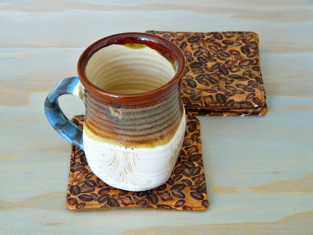 Handmade Quilted Coffee Bean Mug Matt