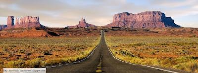 Belle photo couverture facebook route