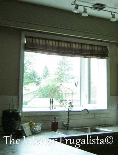 DIY Custom Roman Shade for Kitchen Box Window Open