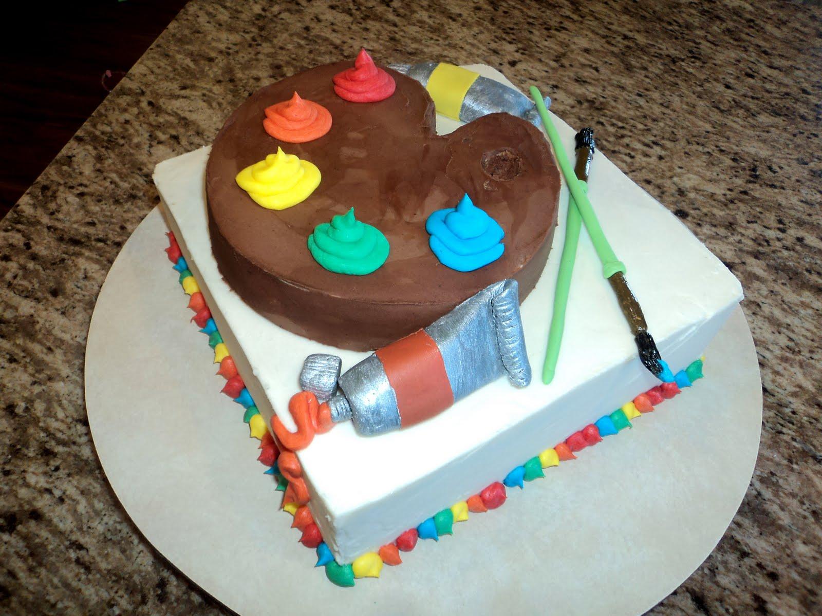 Cake Artist School : Delectable Cakes: Back-to-School Artist Cake