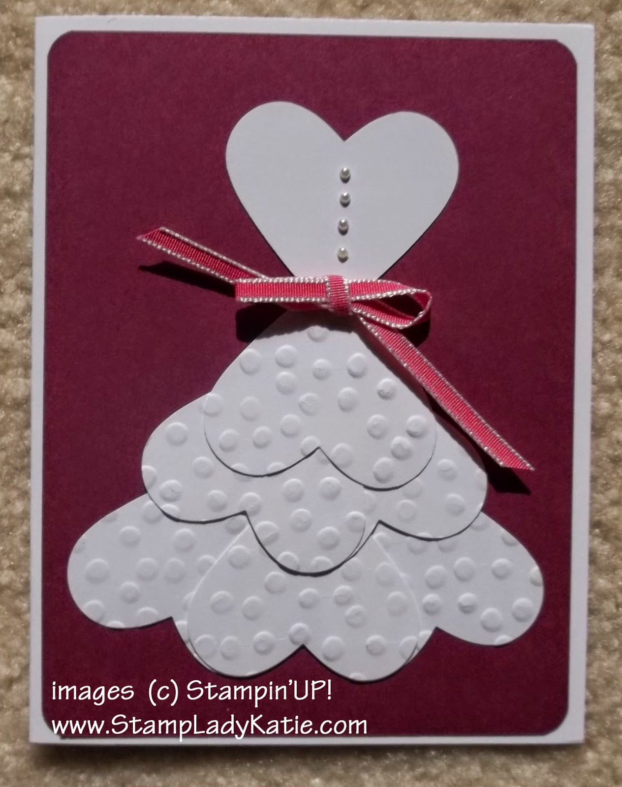 Punch Art made with Stampin'UP!'s Full Heart Punch