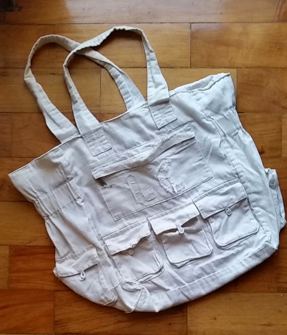 Foldable canvass bag