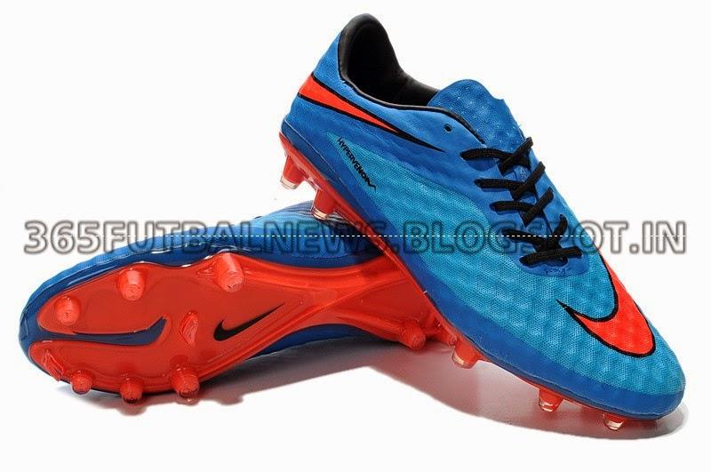 2014 World Cup Neymar Nike Hypervenom Phantom Premium FG Soccer Cleats blue red black