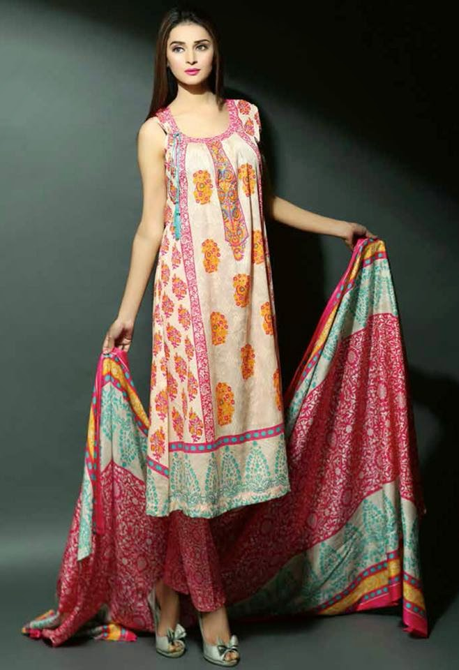 Pakistani dresses lawn collection 2015