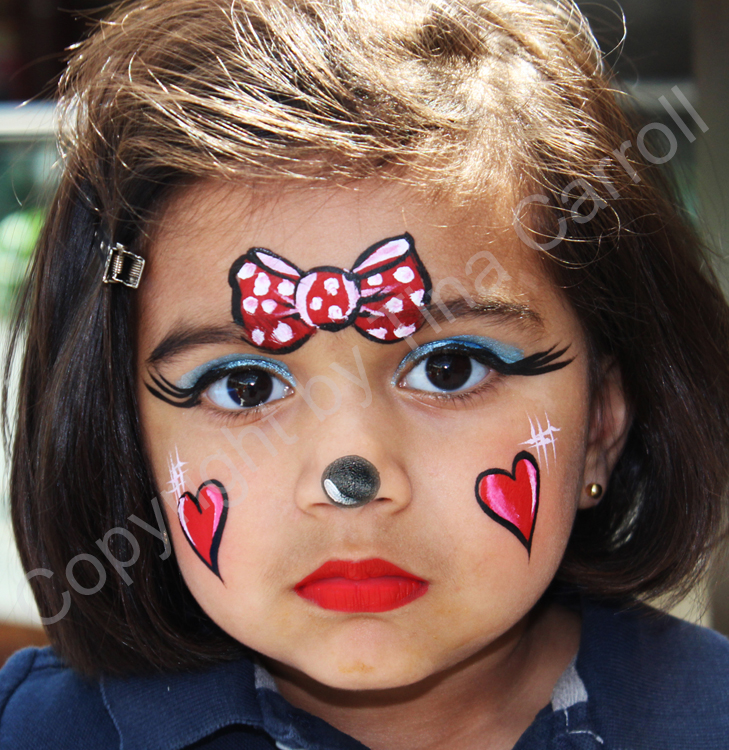 Transformations By Tina; Face & Body Art: Minnie Mouse