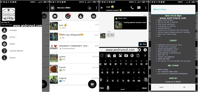 BBM Mod Simple Black & White v2.9.0.51 Apk