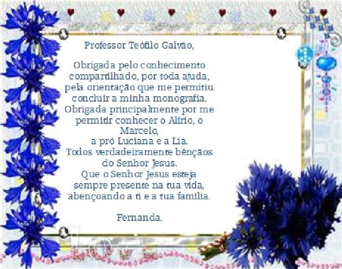Versão Beta: Agradecimento Ao Professor Teófilo Galvão