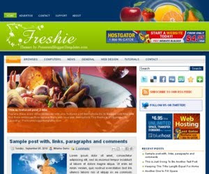 Freshie Blogger Template