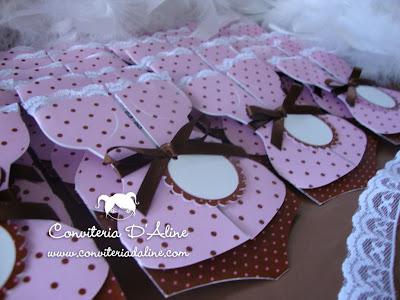 convites cha lingerie corpete rosa marrom