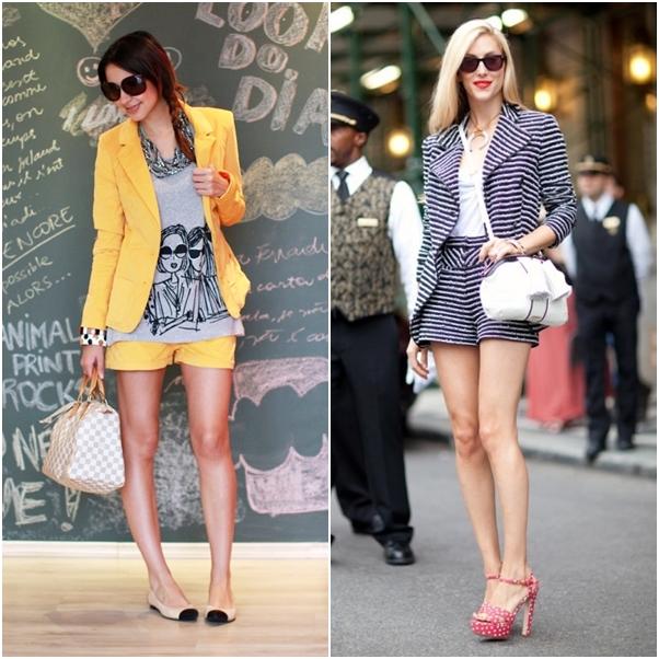 Looks Conjuntinhos Short Amarelo Listras