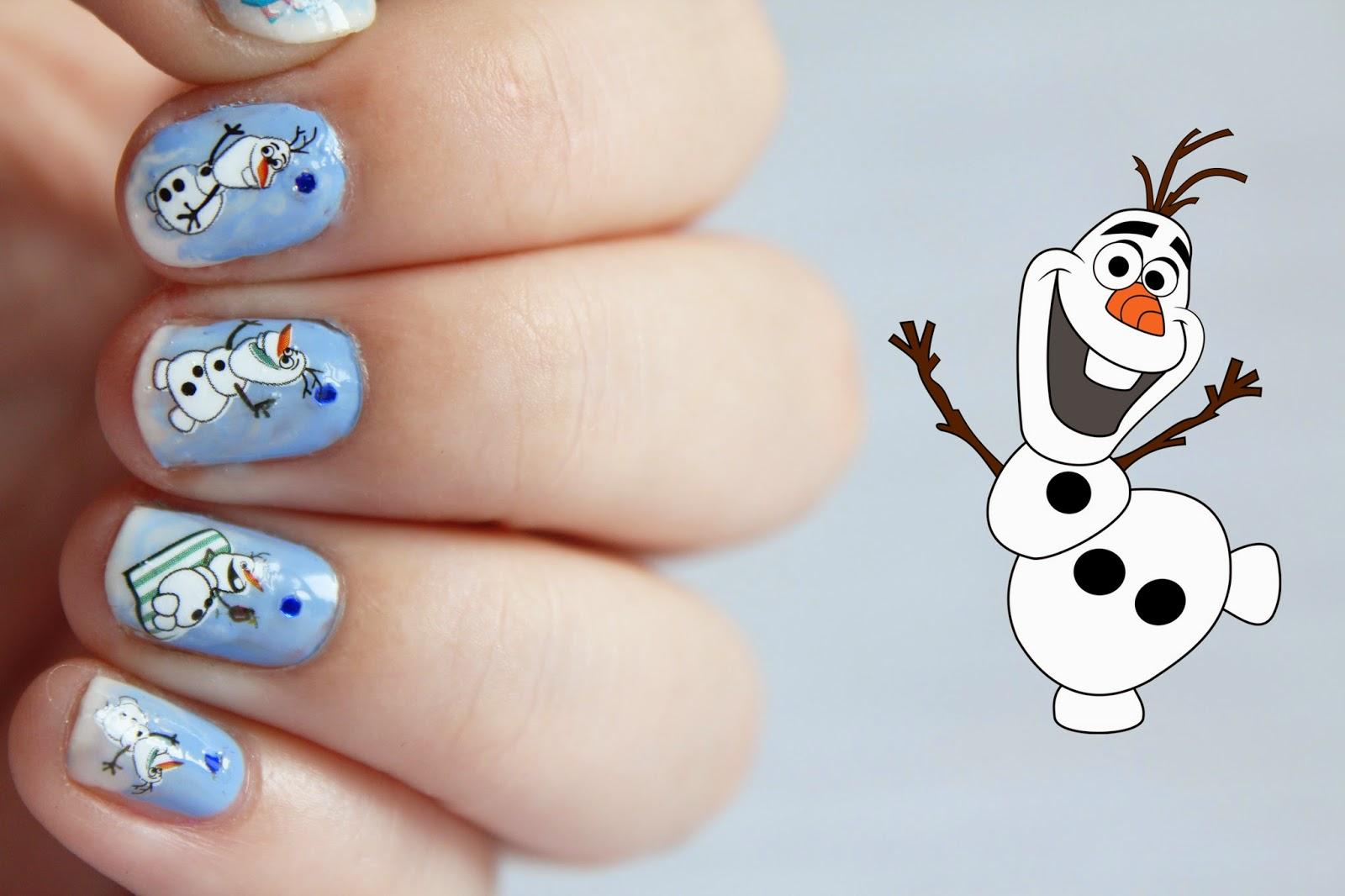 Lunefulle - le blog: Nail art - Reine des neiges le retour - Olaf