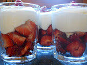 Aardbeien met Room