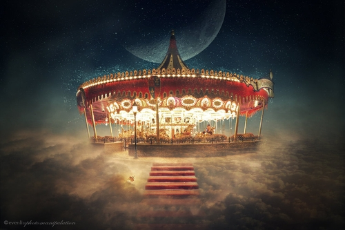 17-Sky-Carousel-Even-Liu-Surreal-Photo-Manipulations-and-the-Lantern-www-designstack-co