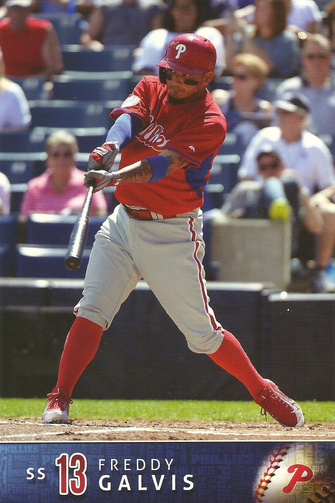 2015 Phillies Team Issue #13 Freddy Galvis