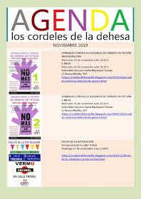 Los cordeles de la dehesa: Agenda de noviembre 2019