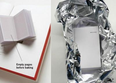 Carte de bucate care înainte de citire trebuie pusă în cuptor