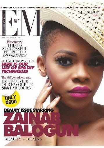 Zainab Balogun covers Exquisite Magazine's August edition