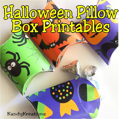 Give your family a fun Halloween with these printable Pillow Boxes.  Fill them with sweet treats or little surprises for all the little monsters in your life all for receiving great ideas on how to make your October awesome with our DIY Projects delivered directly to your Inbox.