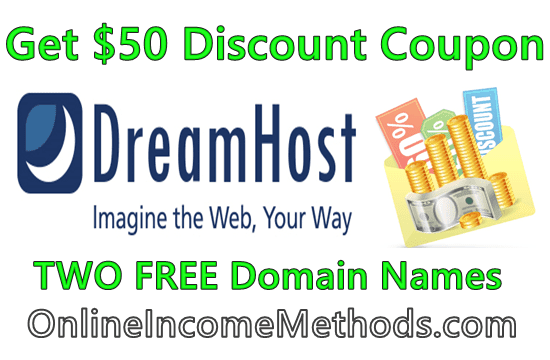 DreamHost Shared Hosting Maximum Discount Coupon and Free Domain Registration