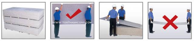 Vận chuyển và bảo quản tấm xi măng cemboard