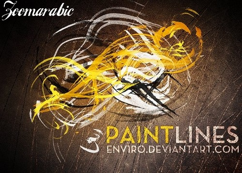 PaintLines contains 24 brushes For Photoshop