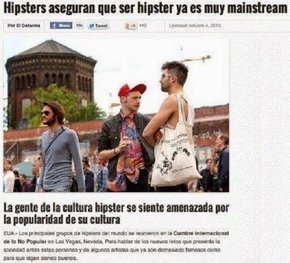 Hipsters aseguran que...