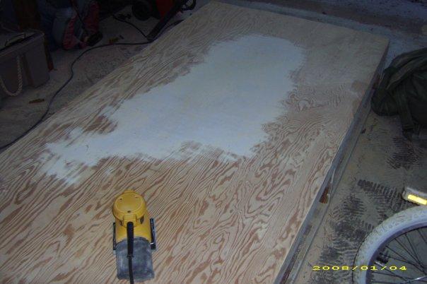 Sanding captains bed