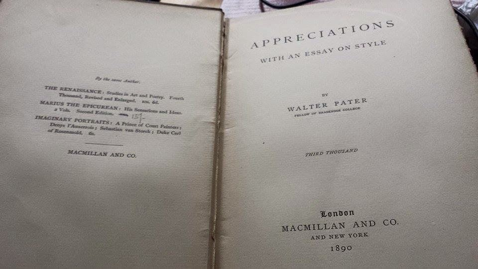 pater essay on style Walter pater is the author of books such as appreciations walter pater books  appreciations appreciations with an essay on style cupid and psyche duke .