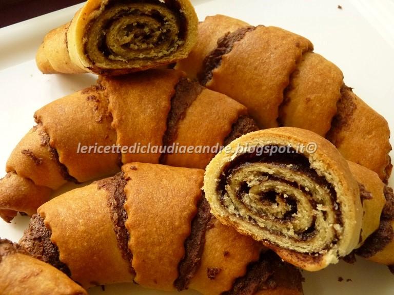Conosciuto Le ricette di Claudia & Andre : Cornetti di pan brioche alla  VX15
