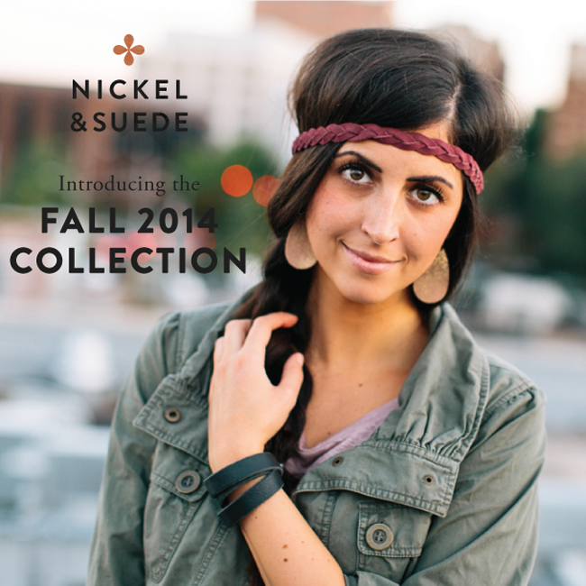 Nickel & Suede Fall 2014 Collection- leather earrings, cuffs, and more!