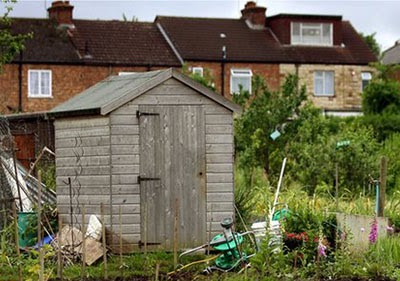 a typical allotment - or residential development site