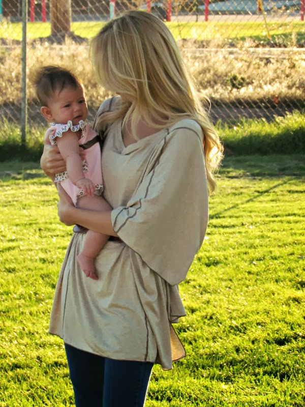 Fashionable Maternity Poncho