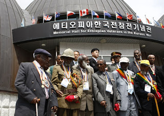 Korea War Ethiopian veteran soldiers memorial