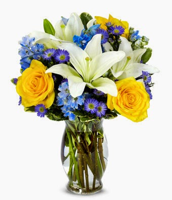 The Bright Blue Sky flowers pictures
