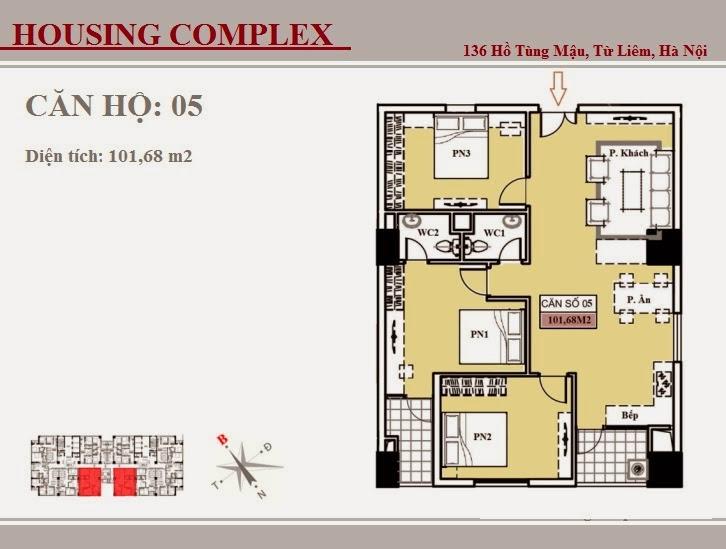 136 Hồ Tùng Mậu - Vinaconex 7 - Housing Complex - CH05
