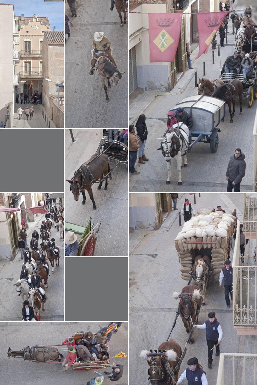 Collage de fotografies dels 3 tombs a Esparreguera ©Imma Mestre Cunillera
