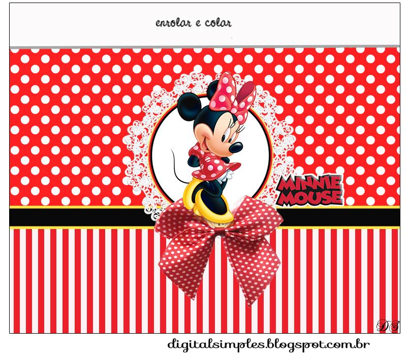 Tema Minnie Vermelha para Imprimir  Convites Digitais Simples