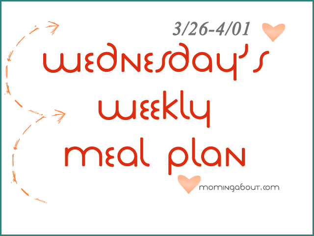 Wednesday's Weekly Meal Plan