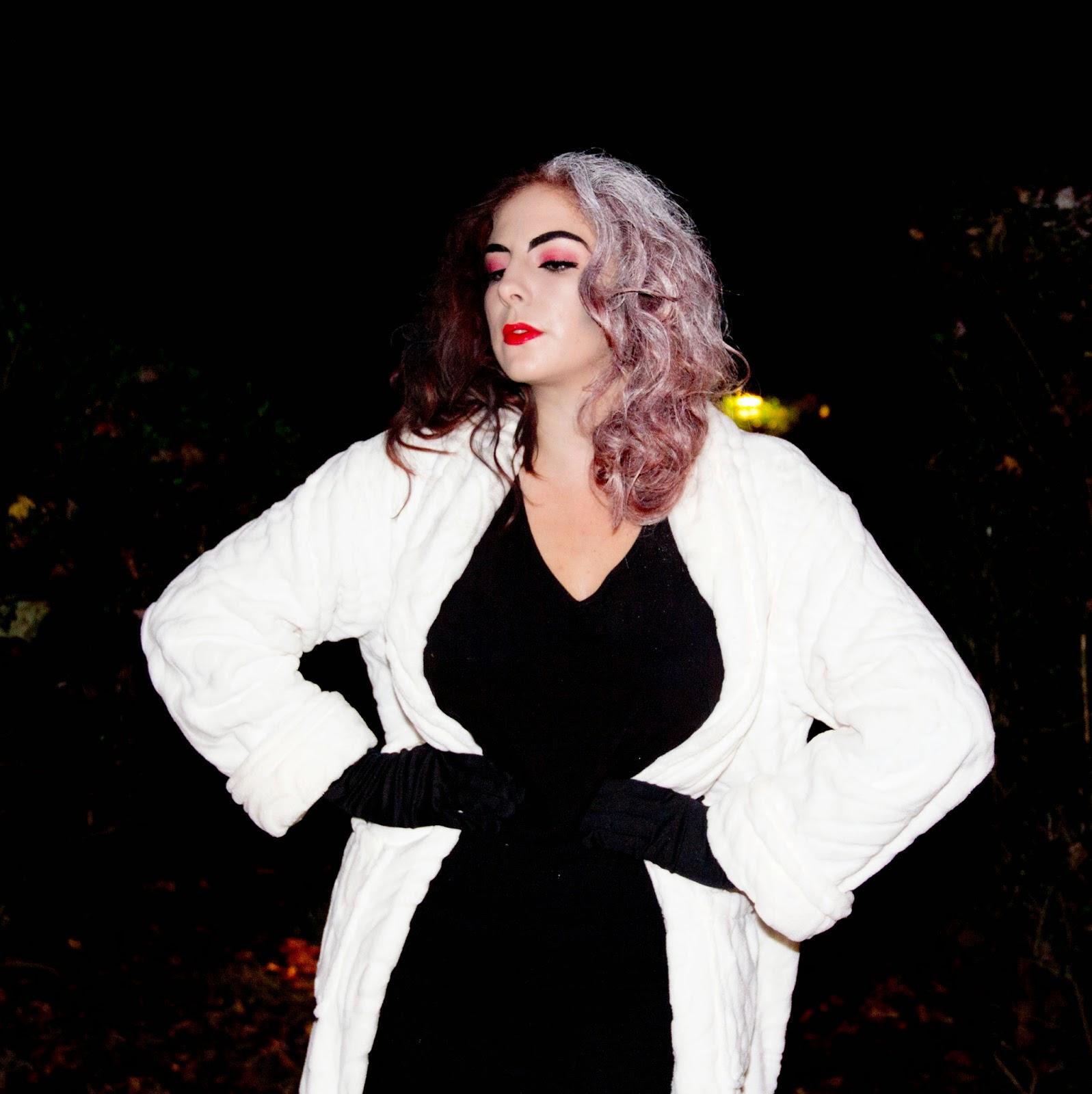 Lipstick chiffon october 2014 halloween makeup tutorial cruella de ville costume solutioingenieria Images
