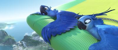 Blu e Jade em cima da asa delta em Rio