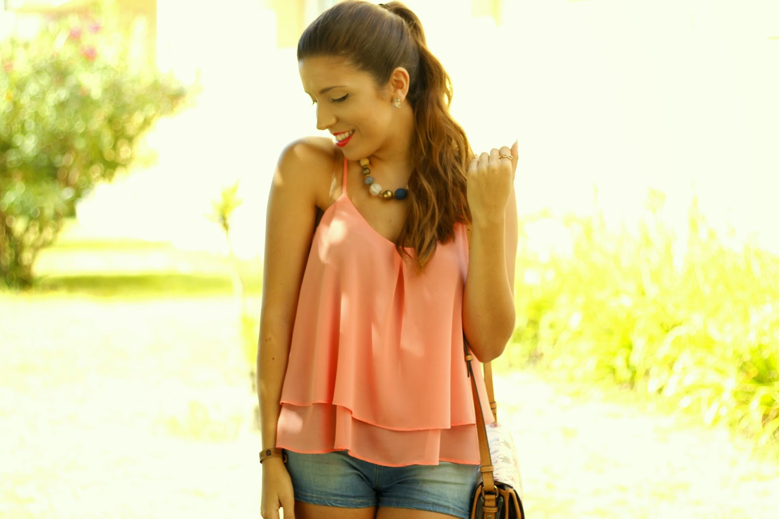 Outfit Look Coral Verão Summer